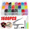 1600pcs T5 KAM Snap Buttons Press Studs Baby Resin Plastic Fasteners Poppers
