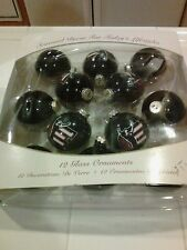 Dale Earnhart Sr. Glass Christmas Ornaments in Box