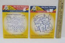 Hot Iron Transfers Animated Kitchenware Dishes Motifs Days of Week Craft Lot 2