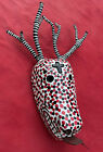 Mexican Folk Art Stunning Huge Spotted Deer Mask From Dance Of The Dead