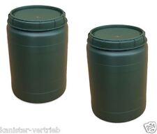 2 x 60 L grün Weithalstonne Weithalsfass Fass mit Drehdeckel Box Tonne NEU