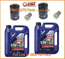 2 x OEM VW Jetta 99-05 Oil Change Kits - 2 Filters, 10 Liters Oil, 2 drain plug