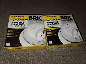 NEW LOT 2 BRK 9120LBL SMOKE ALARM AC POWERED W/ BATTERY BACKUP (1A)