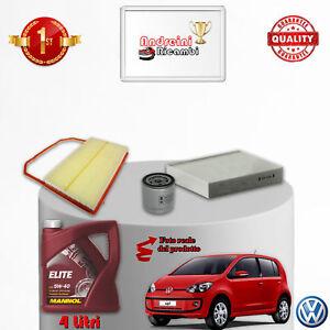 KIT TAGLIANDO FILTRI E OLIO VW UP 1.0 44KW 60CV DAL 2013 ->