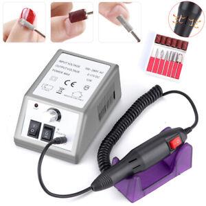 Pro Electric Acrylic Nail Art File Drill Set Manicure Machine Sand Drill Kit