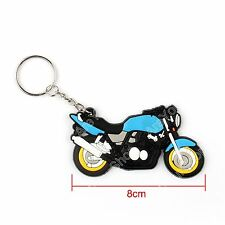 Rubber Motorcycle Model Cool Keyring Keychain Key Chain Pendant For Honda Blu AY
