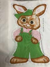 """Vintage Brown Girl Bunny"" 1980's Cut-out fabric Spring mills #7508 NEW"