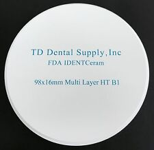 Multi Layer HT (98.5 x 16 mm) Zirconia Disc (HIGH TRANSLUCENT)