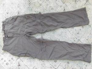"""REI gray nylon convertible pants Sz. L x 35"""""""