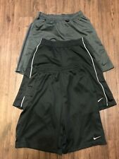 Lot Of 3 Mens Medium Nike Basketball Gym Running Workout Shorts Black & Gray Euc