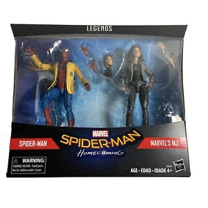 Marvel Legends Spiderman Homecoming 2 Pack Spiderman & MJ new in Package