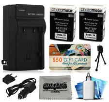 Baterías para cámaras de vídeo y fotográficas Nikon con cargador incluido