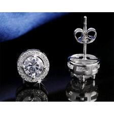 Lolux Cubic Zirconia Clear Zircon Halo Stud Earrings –  AAA Grade CZ Earring