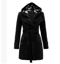 Fashion Ladies Long Winter Hooded Jackets Coat For Women Coats Wool Blend
