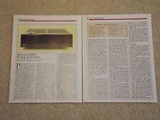 Proton D1200 Amplifier Review, 2 pg, 1986, Full Test /PDF file via email