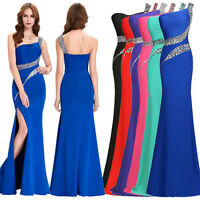 Blue Formal Long Evening Gown Party Prom Bridesmaid Dress Size 6 8 10 12 14 -20