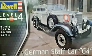 Revell 1:72 GERMAN STAFF CAR G4 Plastic Model Kit 3268 - 96 PARTS