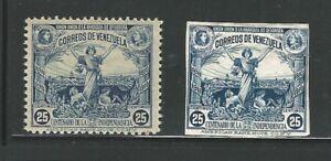 Venezuela: 1910; Scott 249 x 2; perforation, mint NH imperf. not gum ...VZ0234