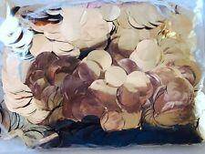 BULK CONFETTI ROSE GOLD Metallic Soft Foil Paper 2cm Round Circles 200Gram Pack