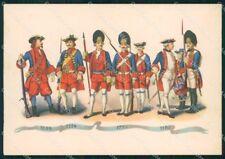 Militari Granatieri Sardegna Albania Uniformi Duval FG cartolina XF7242