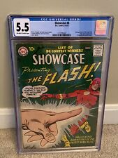 Showcase #8 (1957) CGC 5.5   2nd Silver Age Flash 1st Captain Cold. OW/White!!