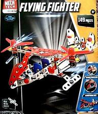 MECH TECH,KIDS 149 PIECE FLYING FIGHTER PLANE BUILDING TOY SET,MODEL KIT,8+,NEW