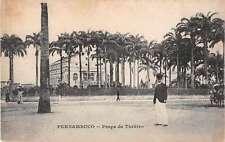 Pernambuco Brazil Praca de Theatro Antique Postcard J53109