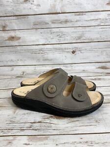 Finn Comfort Women's Finnamic Raipur Comfort Slide Sandals - Stone Impala NIB