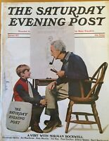 Five Saturday Evening Post magazines from 1960s-70s, Norman Rockwell, vintage