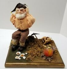 Elf Gnome Camping Display Fall Popcorn Decorative