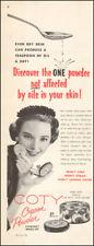 1955 Vintage ad for Coty Cream Powder Compact make-up retro fashion photo 100117