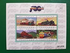 Thailand 1998 Block 91 / 92 Eisenbahn Lokomotiven postfrisch **