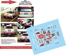 DECALS 1/32 REF 641 CITROEN AX YVES LOUBET TOUR DE CORSE 1992 RALLYE RALLY WRC