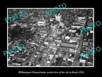 OLD LARGE HISTORIC PHOTO OF WILLIAMSPORT PENNSYLVANIA THE CITY IN FLOOD c1936 1