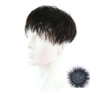 100% Human Hair Topper for Men Toupee Wig Curly Clip Bob Hairpiece Top Women Wig