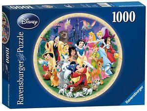 NEW Ravensburger Wonderful World Of Disney 1000 Round shaped Jigsaw Puzzle 15784