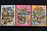 Complete Mario Party 1 2 3 - Japanese Nintendo 64 CIB N64 - Free Shipping