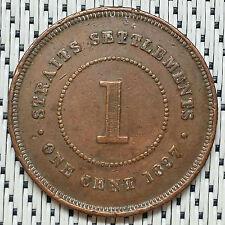 *GOOD Grade* 1897 - Straits Settlements - 1 Cent Victoria #CBKB