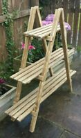 2/3/4 Tier White Wooden Ladder Shelf Bookcase Plant Flower Shelving Display Unit