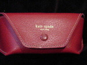 Pristine Kate Spade Red Sunglasses / Eyeglasses Semi-Hard Case With Funky Lining