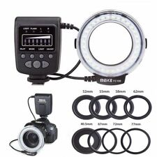 QYRL 18Pcs Macro LED Ring Camera Flash Light with LCD Display for Canon//Nikon for Panasonic for Pentax//Olympus//DSLR Camera