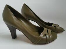 Arturo Chiang Green Heels Leather Open Toe Xaria NEW $98 Nordstrom NO BOX