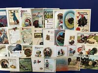 30 Thanksgiving Turkeys Better Antique Postcards 1900s. Collector Items. Value.