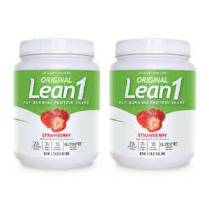 Lean1 15-serving) strawberry - bundle of 2 tubs (original) sold by Nutrition53