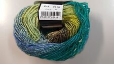 Noro Silk Garden Lite # 2126 Green Blue Lime & Charcoal Mix 50g