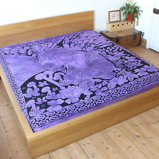 Purple Fairy dreaming throw Fair Trade Bedspread backdrop wall-hanging bed cover