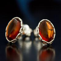 Bernstein Silber 925 Ohrringe Damen Schmuck Sterlingsilber S419