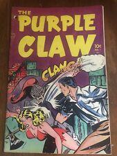 Golden Age THE PURPLE CLAW #1 1953 Minoan Press, Horror Violence GGA Pre Code
