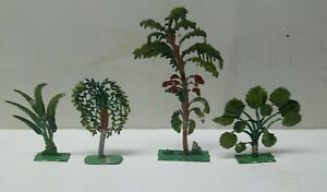 4 Diff Antique Lead Desert Fauna & Trees For Your French Soldiers & Arab Diorama