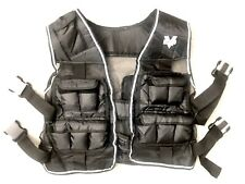 valeo black weighted vest 20 lbs for strength and aerobic training exercise